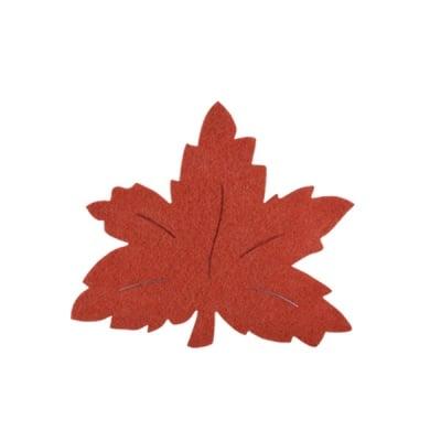 Деко фигурка лозов лист, Filz, 90 mm, кафяв