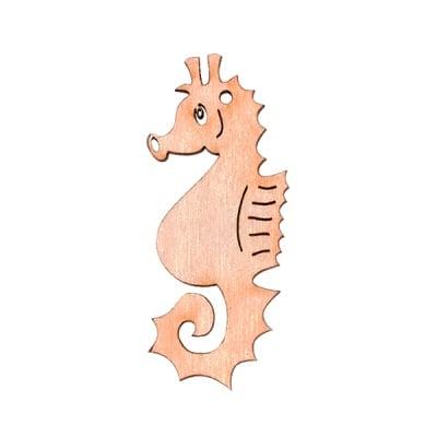 Деко фигурка морско конче, дърво, 60 mm