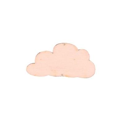 Деко фигурка облак, дърво, 30 mm