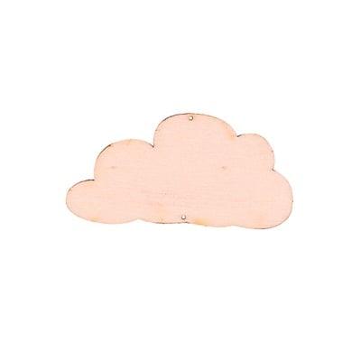 Деко фигурка облак, дърво, 40 mm