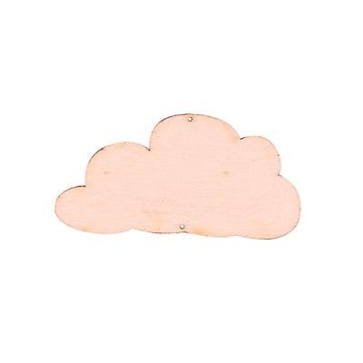 Деко фигурка облак, дърво, 60 mm
