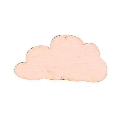 Деко фигурка облак, дърво, 80 mm