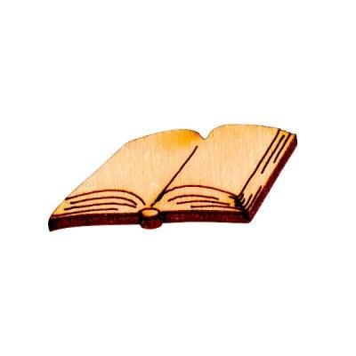 Деко фигурка отворена книга, дърво, 30 mm