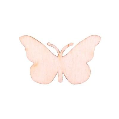 Деко фигурка пеперуда, дърво, 30 mm