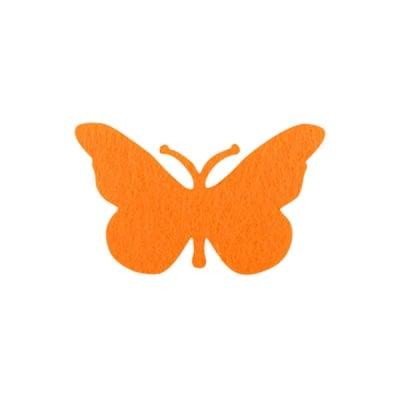 Деко фигурка пеперуда, Filz, 40 mm, жълта