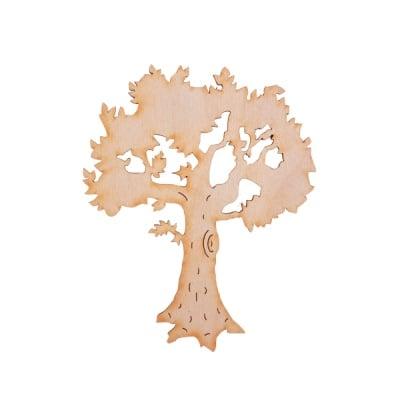 Деко фигурка плодно дърво с листа, дърво, 60 mm