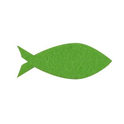 Деко фигурка рибка, Filz, 30 mm, тревно зелена