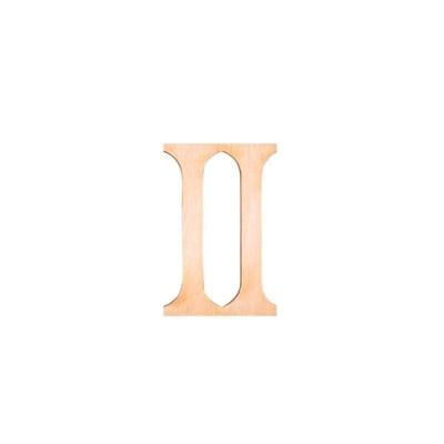"Деко фигурка римска цифра ""II"", дърво, 28 mm"