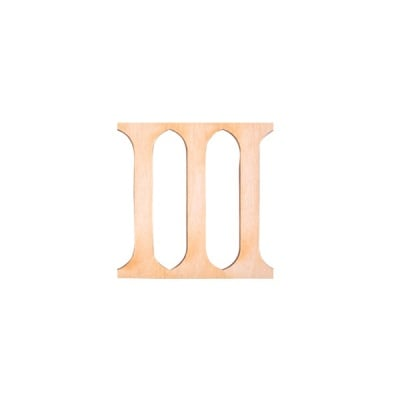 "Деко фигурка римска цифра ""III"", дърво, 28 mm"