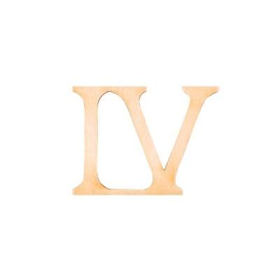 """Деко фигурка римска цифра """"IV"""", дърво, 28 mm"""