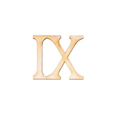 """Деко фигурка римска цифра """"IX"""", дърво, 19 mm"""