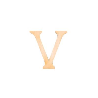 """Деко фигурка римска цифра """"V"""", дърво, 50 mm"""