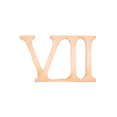 """Деко фигурка римска цифра """"VII"""", дърво, 28 mm"""