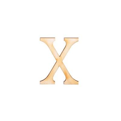 """Деко фигурка римска цифра """"X"""", дърво, 28 mm"""