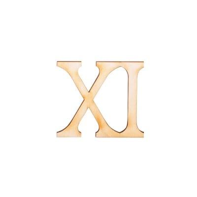 """Деко фигурка римска цифра """"XI"""", дърво, 28 mm"""