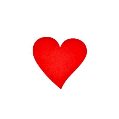 Деко фигурка сърце, Filz, 30 mm, червено