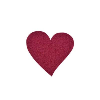 Деко фигурка сърце, Filz, 30 mm, кафяво