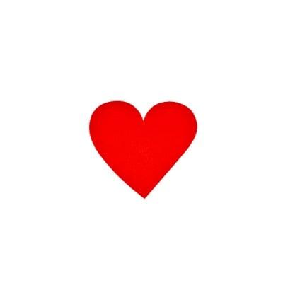 Деко фигурка сърце симетрично, Filz, 30 mm, червено