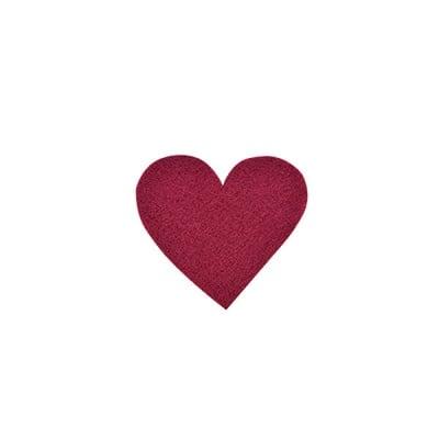 Деко фигурка сърце симетрично, Filz, 30 mm, кафяво