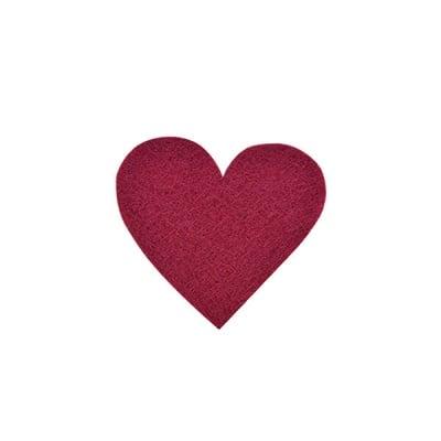 Деко фигурка сърце симетрично, Filz, 50 mm, кафяво