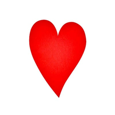 Деко фигурка сърце удължено, Filz, 160 mm, червено