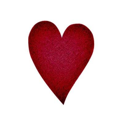 Деко фигурка сърце удължено, Filz, 160 mm, кафяво