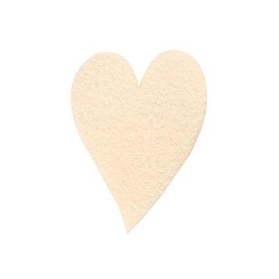Деко фигурка сърце удължено, Filz, 160 mm, кремаво