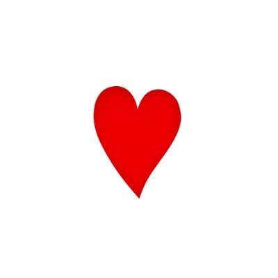 Деко фигурка сърце удължено, Filz, 30 mm, червено