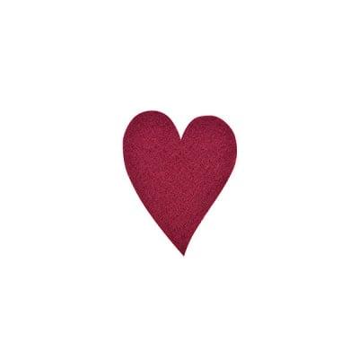 Деко фигурка сърце удължено, Filz, 30 mm, кафяво