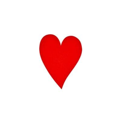 Деко фигурка сърце удължено, Filz, 40 mm, червено
