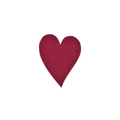 Деко фигурка сърце удължено, Filz, 40 mm, кафяво