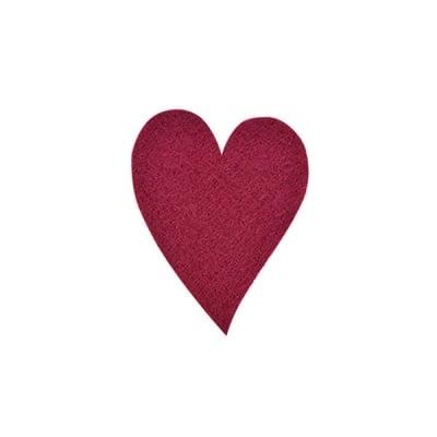 Деко фигурка сърце удължено, Filz, 60 mm, кафяво