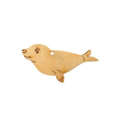 Деко фигурка тюлен, дърво, 60 mm