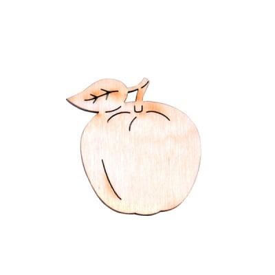 Деко фигурка ябълка, дърво, 20 mm