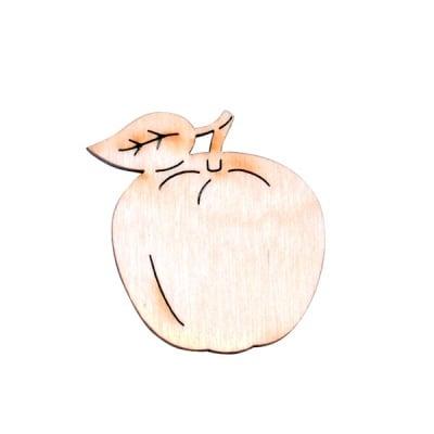 Деко фигурка ябълка, дърво, 30 mm