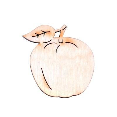 Деко фигурка ябълка, дърво, 40 mm