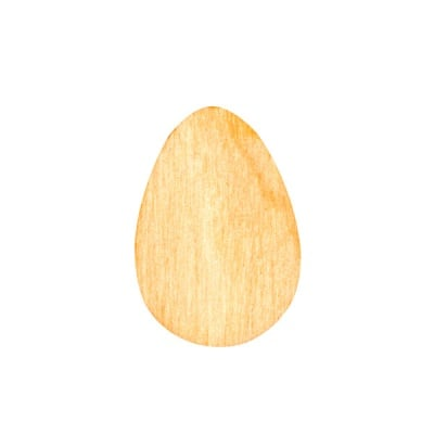 Деко фигурка яйце, дърво, 20 mm