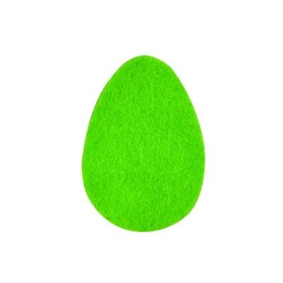 Деко фигурка яйце, Filz, 60 mm, тревно зелено