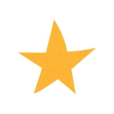 Деко фигурка звезда, Filz, 100 mm, светло жълта
