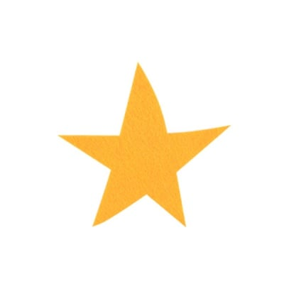 Деко фигурка звезда, Filz, 80 mm, светло жълта