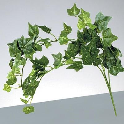 Декоративен бръшлян, английски, 72 листа, 42 см, 3 части, зелен