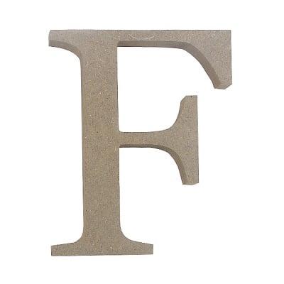 "Декоративен символ RicoDesign, ""F"", MDF, 4,1x3,1 cm"