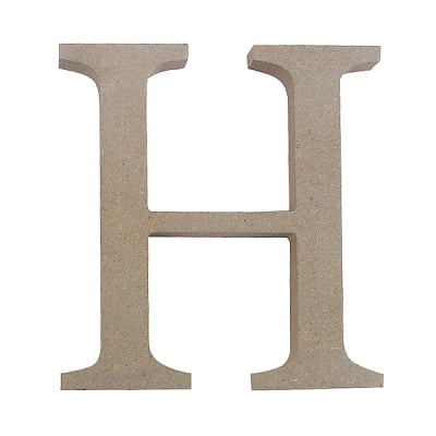 "Декоративен символ RicoDesign, ""H"", MDF, 4,1x4,1 cm"