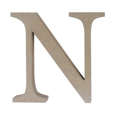 "Декоративен символ RicoDesign, ""N"", MDF, 4,1x4,3 cm"
