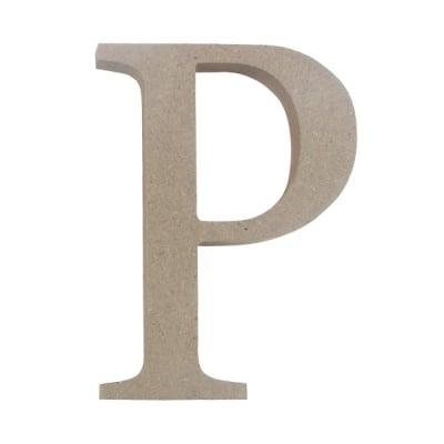 "Декоративен символ RicoDesign, ""P"", MDF, 4,1x3,3 cm"