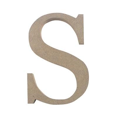 "Декоративен символ RicoDesign, ""S"", MDF, 4,1x2,8 cm"