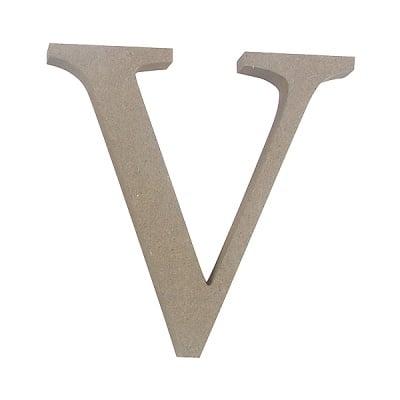 """Декоративен символ RicoDesign, """"V"""", MDF, 4,1x4,1cm"""