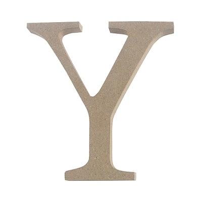 "Декоративен символ RicoDesign, ""Y"", MDF, 4,1x3,9 cm"