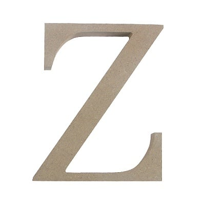 """Декоративен символ RicoDesign, """"Z"""", MDF, 4,1x3,4 cm"""
