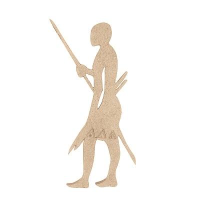Декоративна фигура RicoDesign, АФРИКАНЕЦ, MDF, 23.5/9/0.5 cm